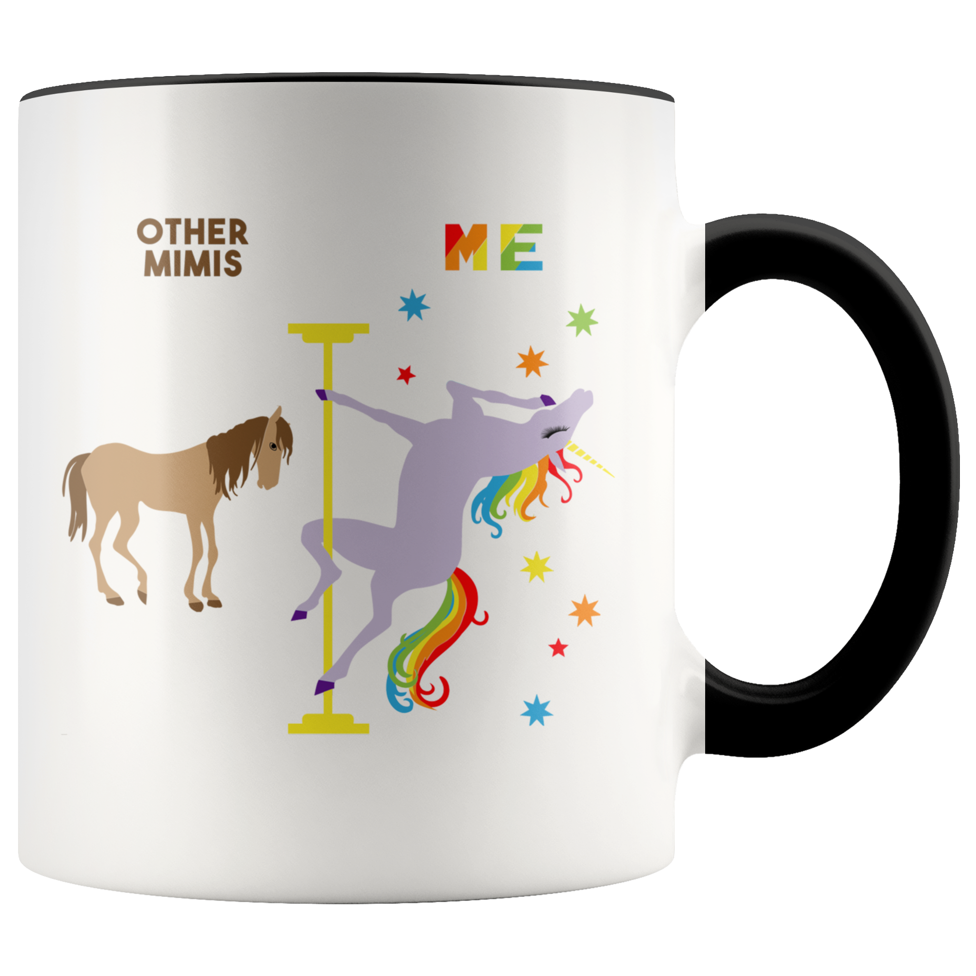 Mimi Gift for Mimi Mug Christmas Gift for Grandma Gift for Grandma Mug Gift for Grandmother Gift Grandma Coffee Cup Pole Dancing Unicorn