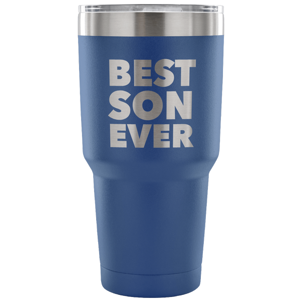 Gifts to Son From Dad Gift to Son From Mom Best Son Ever Tumbler Funny Double Wall Vacuum Insulated Hot & Cold Travel Cup 30oz BPA Free