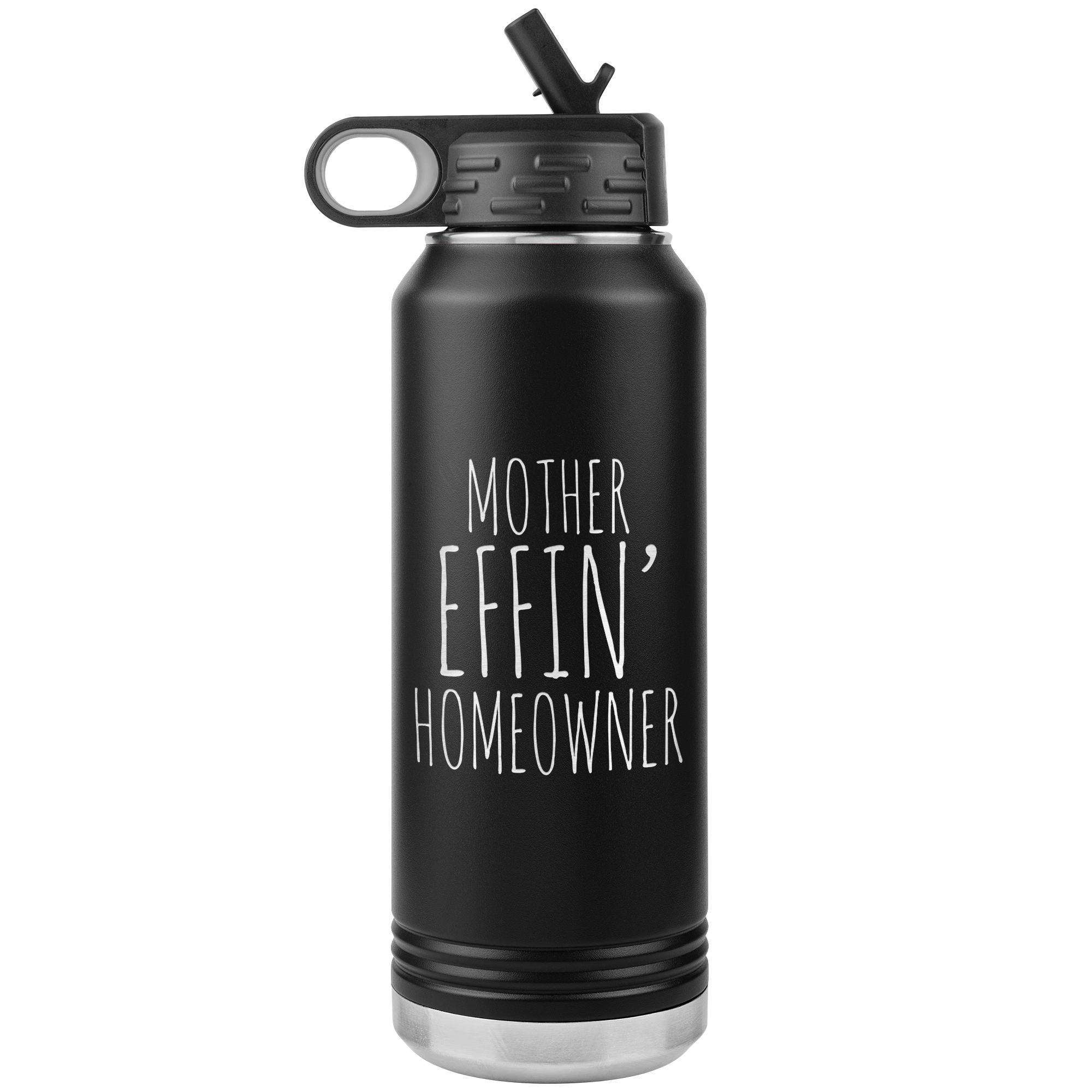 Housewarming Gift Funny New Homeowner Gifts First Home Homeowner Housewarming Funny Brand New Home Insulated Water Bottle 32oz BPA Free