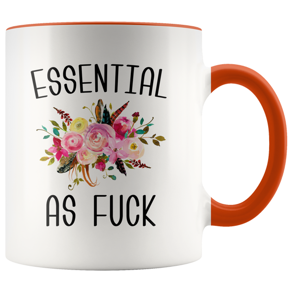 Essential Worker Mug Essential Employee Gift Essential As Fuck Mug Funny Accent Coffee Cup Gift For Nurse Essential AF…