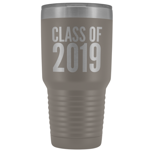 Class of 2019 Graduation Tumbler Metal Mug Insulated Hot Cold Travel Coffee Cup 30oz BPA Free