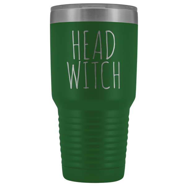 Head Witch Tumbler Funny Fall Halloween Gifts for Witches Metal Mug Insulated Hot Cold Travel Coffee Cup 30oz BPA Free