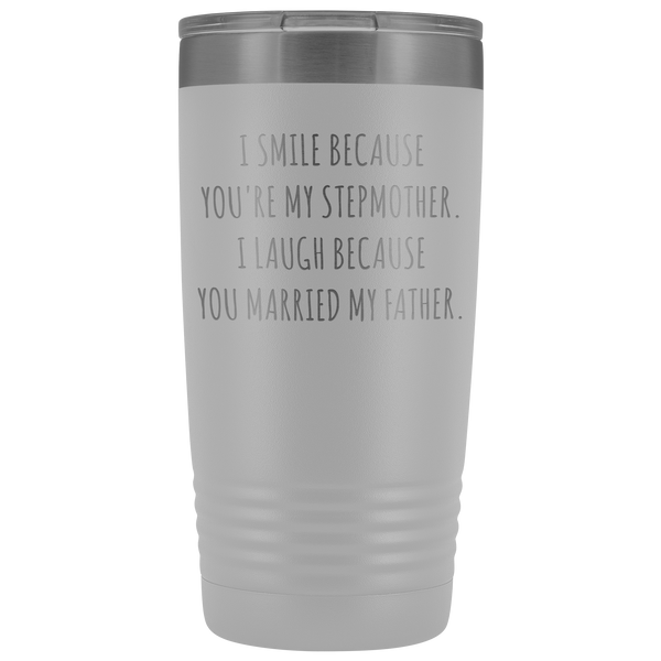Stepmom Mug Step Mom Gifts Stepmother for Step Mom Present Stepparent Mother's Day Funny Tumbler Insulated Travel Coffee Cup 20oz BPA Free