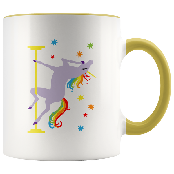 Pole Dancing Unicorn Coffee Mug I'm Fabulous I'm Magical Rainbow Cup Funny Gay Pride Gifts for Men Women Gift for Her Birthday for Him 11oz