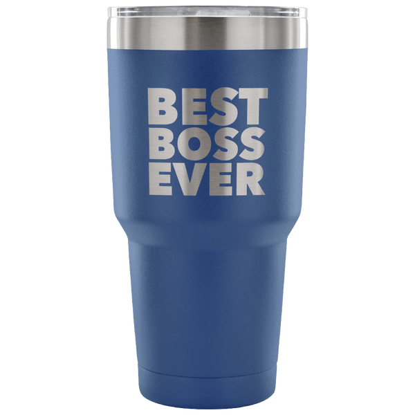 Gifts for Bosses from Employee Best Boss Tumbler Funny Double Wall Vacuum Insulated Hot & Cold Travel Cup 30oz BPA Free