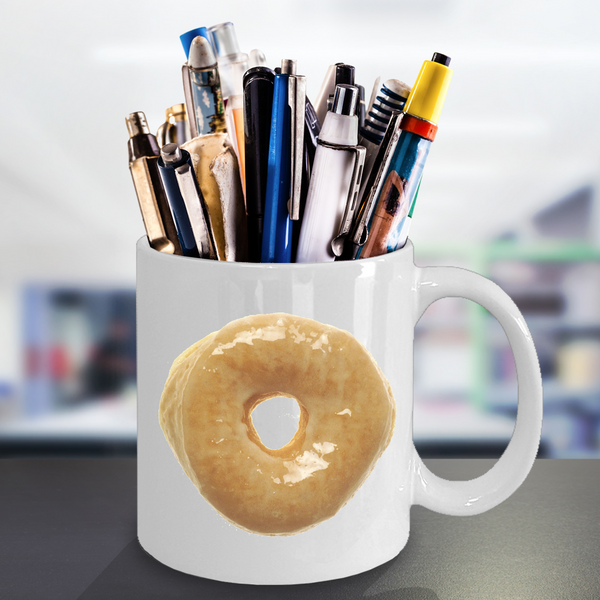 Glazed Donut Minimalist Coffee Mug Ceramic Coffee Cup 11 oz.-Cute But Rude