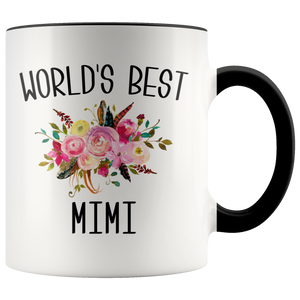 Worlds Best Mimi Mug Cute Gift for Mimi Best Mimi Ever Floral Coffee Cup