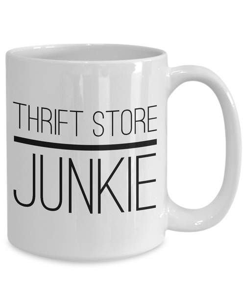 Thrift Store Junkie Coffee Mug - Boho Gifts - Vintage Style Coffee Mugs - Boho Chic Decor-Cute But Rude