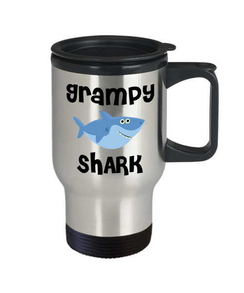 Grampy Shark Mug Grampie Gifts Do Do Do Gifts for Grampies Stainless Steel Insulated Travel Coffee Cup