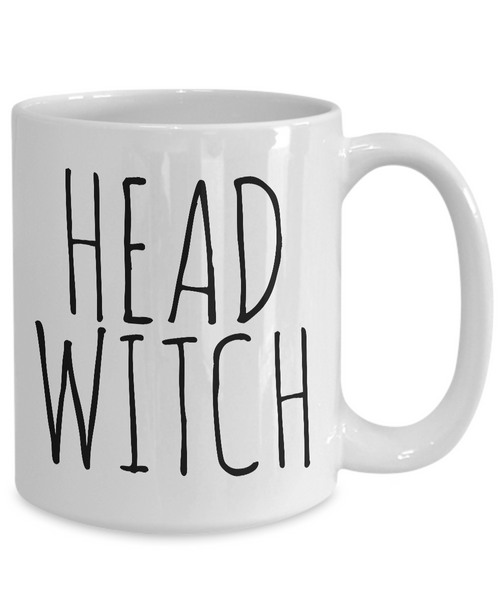 Head Witch Cauldron Mug Funny Halloween Ceramic Coffee Cup Gifts for Witches-Coffee Mug-HollyWood & Twine