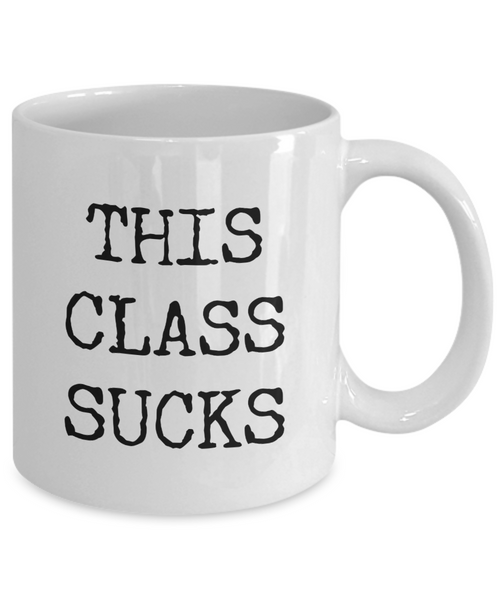 This Class Sucks Mug Funny Back to School College Student Coffee Cup