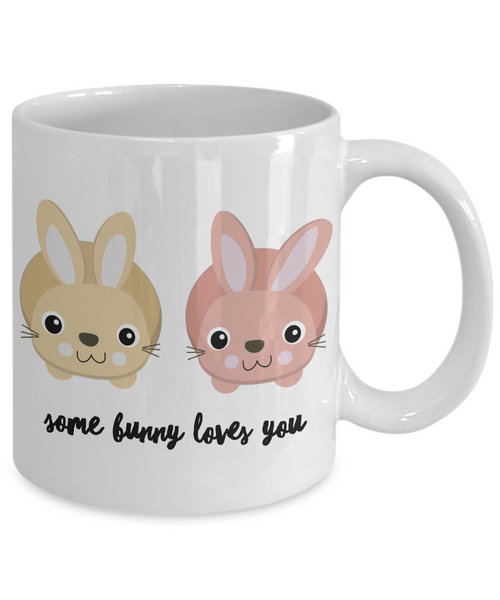 Easter Coffee Mugs - Easter Gifts for Adults - Some Bunny Loves You Mug - Bunny Mug - Rabbit Mug-Cute But Rude