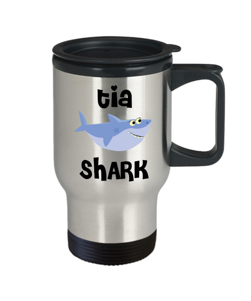 Tia Shark Mug Tia Gifts Do Do Do Gifts for Tias Stainless Steel Insulated Travel Coffee Cup