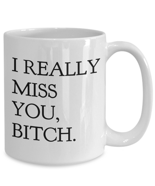 I Really Miss You Bitch Coffee Mug Friend Gifts Ceramic Friendship Coffee Cup