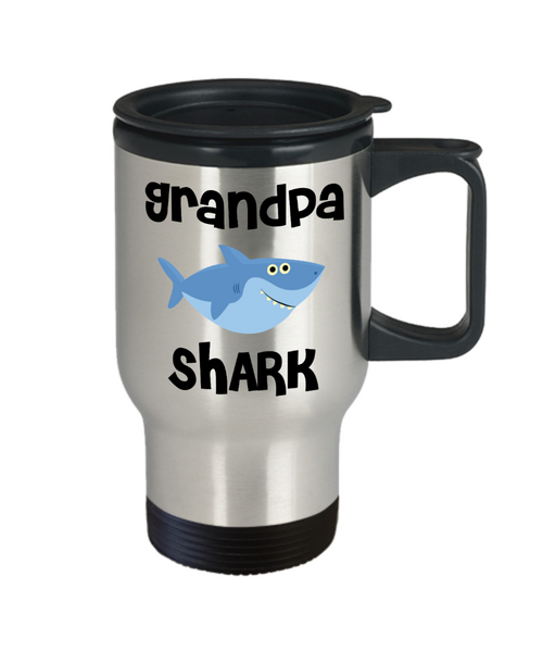 Grandpa Shark Mug Grandpa Gifts Do Do Do Gifts for Grandpas Stainless Steel Insulated Travel Coffee Cup