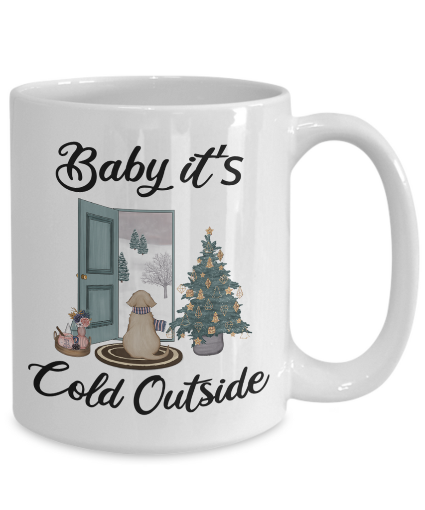 Baby It S Cold Outside Mug Christmas Gift Cute Winter Scene Mugs With Cute But Rude