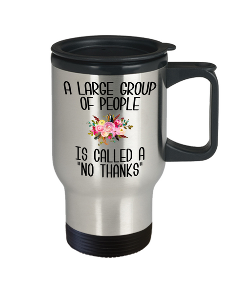 Funny Introvert Gifts I'm Busy Introverting Mug Antisocial A Large Group of People is Called a No Thanks Floral Travel Coffee Cup Mugs with Sayings