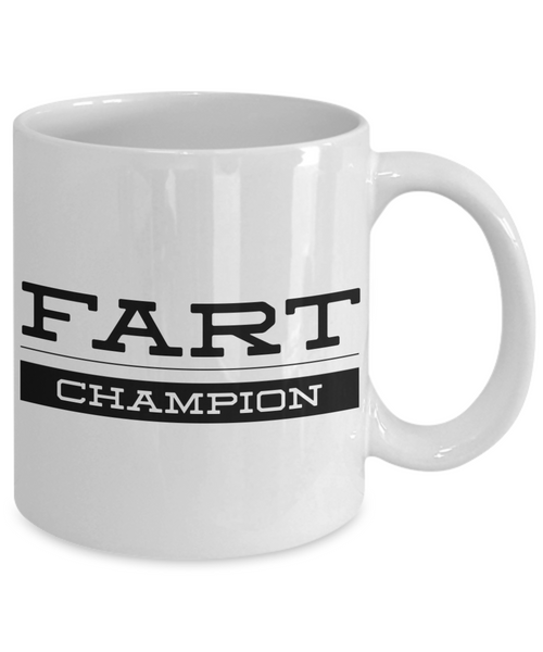 Fart Champion Mug Gifts Ceramic Coffee Cup-Coffee Mug-HollyWood & Twine