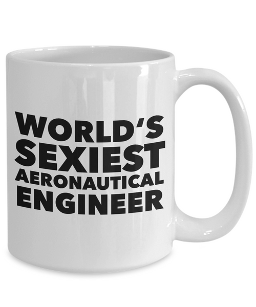 World's Sexiest Aeronautical Engineer Mug Ceramic Coffee Cup-Cute But Rude