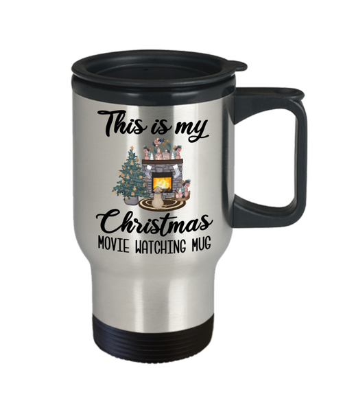 This is My Christmas Movie Watching Mug Christmas Travel Coffee Cup Cute Cozy Holiday Mug Winter Mug Gifts for Friends Christmas Gift for Mom for Sister