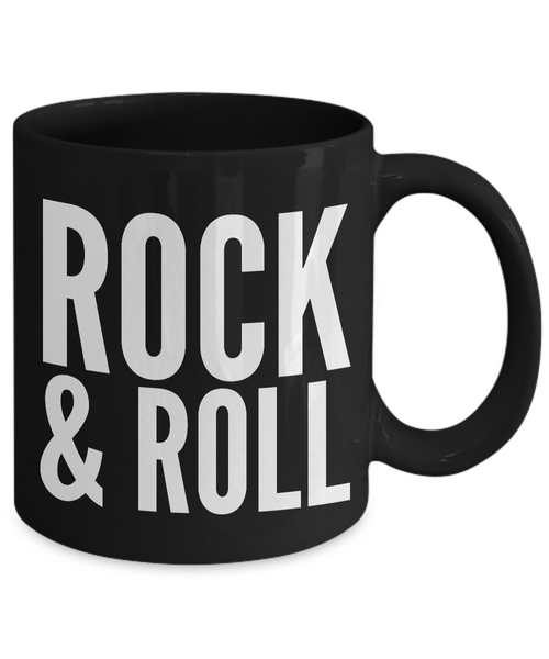 Rock N Roll Mugs - Musician Gifts - Rock & Roll Coffee Mug - Black Coffee Mugs-Cute But Rude