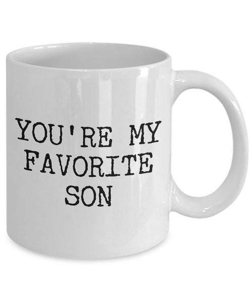 Best Son Mug Funny Gift for Son - You're My Favorite Son Funny Coffee Mug Ceramic Tea Cup Gift for Him-Cute But Rude