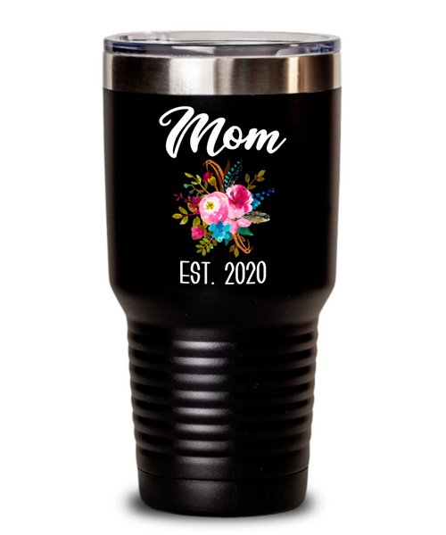 New Mom Tumbler Expecting Mommy to Be Gifts Est 2020 Baby Shower Gift Pregnancy Announcement Insulated Hot Cold Travel Coffee Cup BPA Free