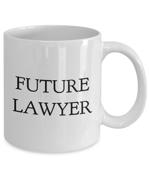 Future Lawyer Coffee Mug - Law Student Coffee Mug Ceramic Tea Cup - Law Student Gifts for Women & Men - Future Lawyer Gifts-Coffee Mug-HollyWood & Twine