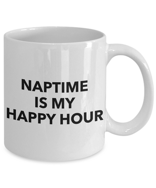 Funny Coffee Mugs for Work Mug - Naptime is My Happy Hour Funny Mug-Coffee Mug-HollyWood & Twine