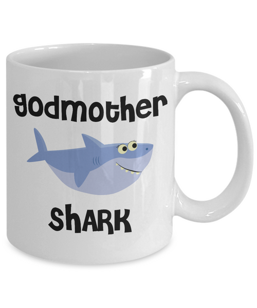 Be My Godmother Proposal Gifts Shark Mug Coffee Cup