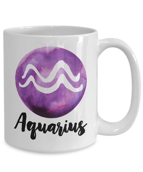 Zodiac Aquarius Horoscope Coffee Mug - Astrology Gift - Metaphysical, Celestial, Astrology, Horoscopes-Cute But Rude