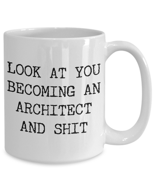 Architect Graduation Gifts For Men And Women Architect Graduate New Architect Gift Aspiring Architect Mug Funny Coffee Cup