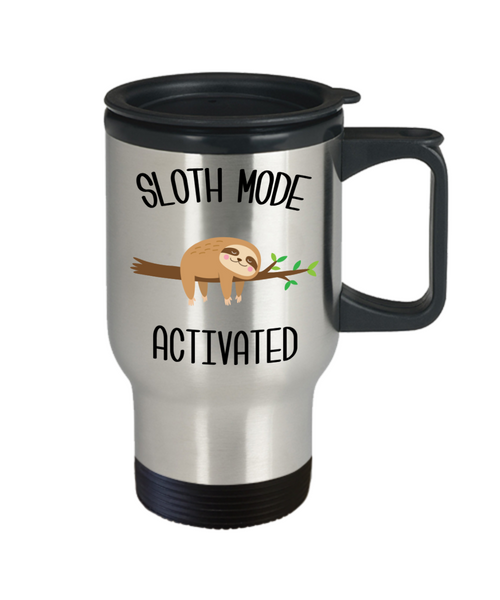 Sloth Mode Activated Mug Cute Sloths Lover Gift Insulated Travel Coffee Cup