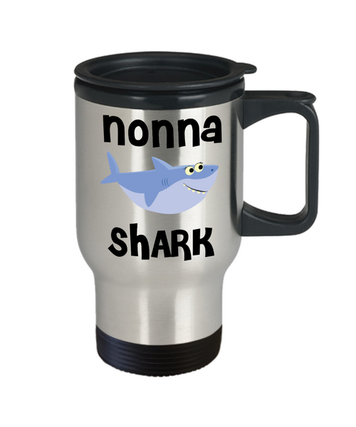 Nonna Shark Mug Nonna Gifts Do Do Do Gifts for Nonnas Stainless Steel Insulated Travel Coffee Cup