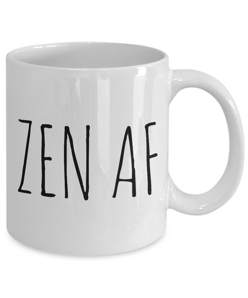 Zen AF Mug Ceramic Coffee Cup Yoga Gift Meditation Gift-Cute But Rude