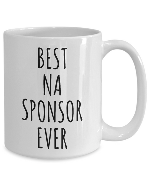 NA Sponsor Gifts Mug Best Sponsor Ever Sobriety Gifts for Sponsors Narcotics Anonymous Addiction Recovery-Cute But Rude