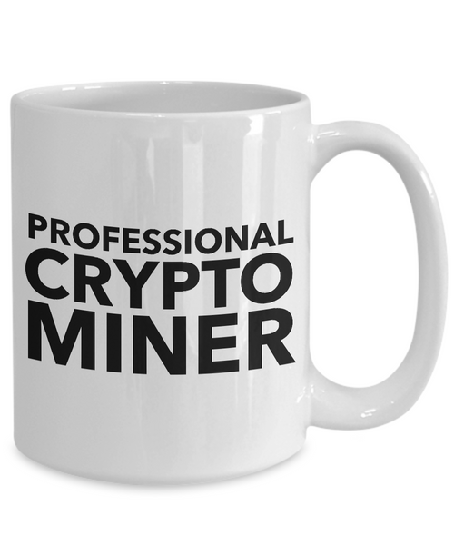 Bitcoin Crypto Miner Mug - Professional Crypto Miner Ceramic Coffee Cup-Cute But Rude