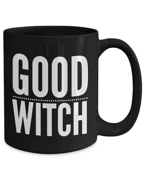 Good Witch Gift - Witches Brew Coffee Mug - Black Mug for Witches-Coffee Mug-HollyWood & Twine