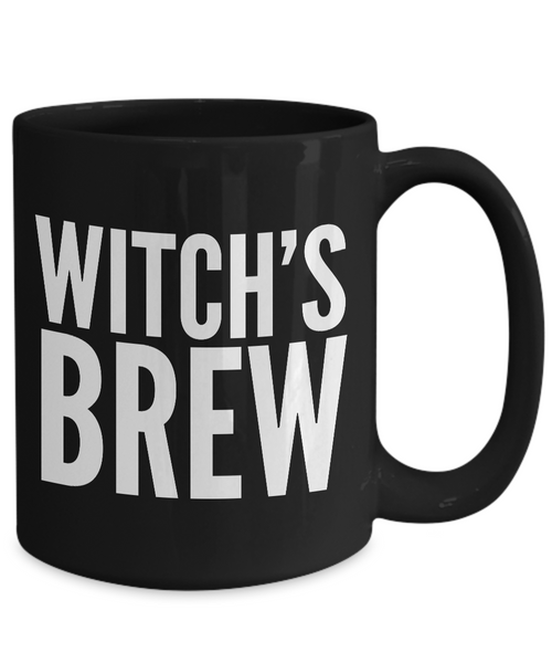 Witch Brew - Witch's Brew - Witches Brew Coffee Mug - Good Witch Gift - Black Mug-Coffee Mug-HollyWood & Twine