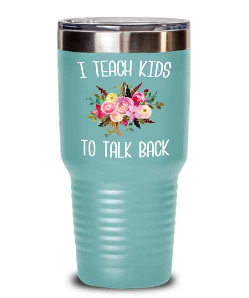Speech Therapist Gifts SLP Mug Gift for Speech Language Pathologist SLP Therapy Tumbler Floral Insulated Hot Cold Travel Coffee Cup BPA Free
