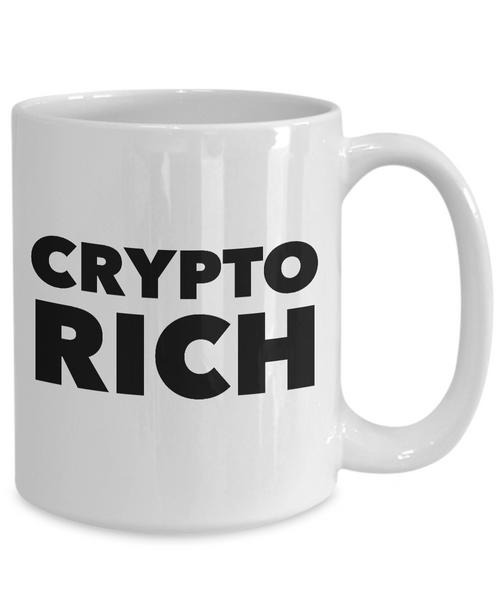 Bitcoin Millionaire Mug - Crypto Rich Ceramic Coffee Mug Gift-Cute But Rude