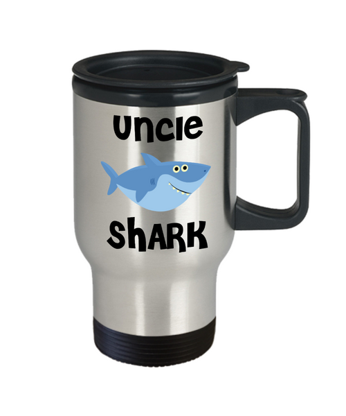 Uncle Shark Mug Uncle Gifts Do Do Do Gifts for Uncles Stainless Steel Insulated Travel Coffee Cup