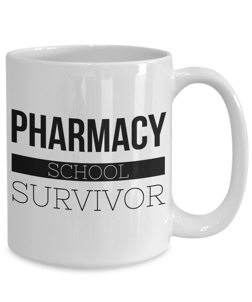 Coffee Mug Gifts for Pharmacy Graduation - Pharmacy School Survivor Ceramic Coffee Cup-Cute But Rude