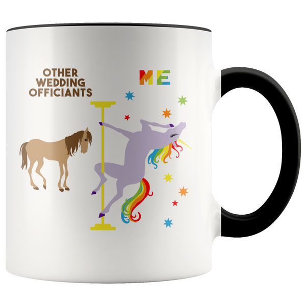 Funny Wedding Officiant Gift Wedding Officiant Mug Officiant Proposal Gift Pole Dancing Unicorn Coffee Cup