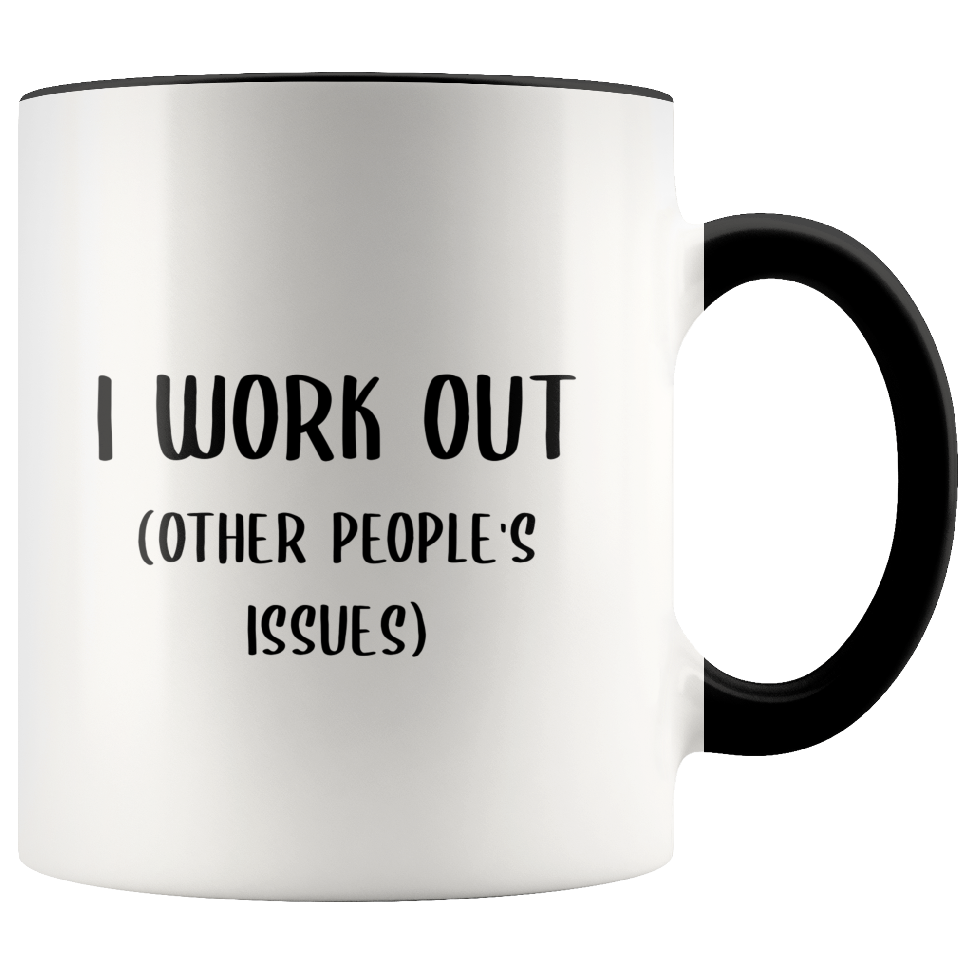 Therapist Mug Funny Therapist Gift I Work Out Other People's Issues Guidance Counselor Psychologist Coffee Cup