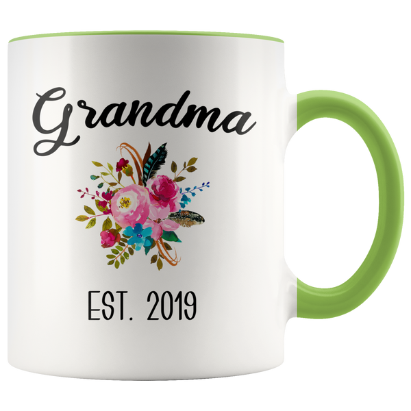 Grandma to be Mug Gifts for New Grandma Est 2019 Pregnancy Announcement for Grandparents Reveal to Grandparents