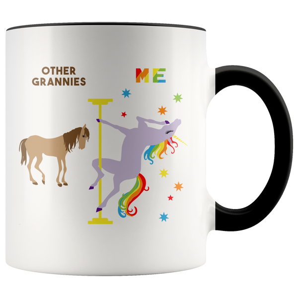 Funny Granny Gift Grannie Mug Other Grannies Me Gift Pole Dancing Unicorn Coffee Cup