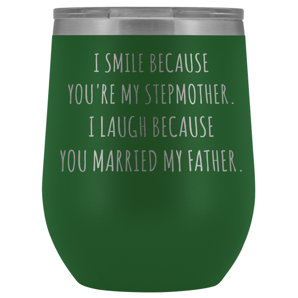 Stepmom Mug Step Mom Gifts Stepmother Gifts for Step-Mom Funny Stemless Insulated Wine Tumblers Hot Cold BPA Free 12oz Travel Cup