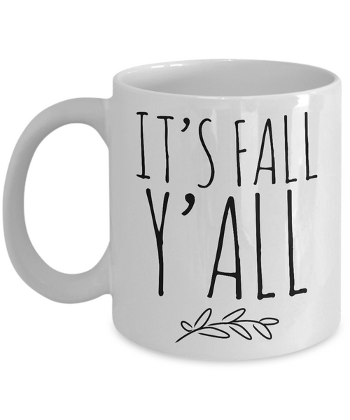 It's Fall Y'all Mug Ceramic Hello Fall Coffee Cup