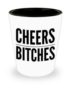 Cheers Bitches Shot Glasses - Bachelorette Party Shot Glasses - 21st Birthday Shot Glass - Funny Shot Glasses - Cute Shot Glass